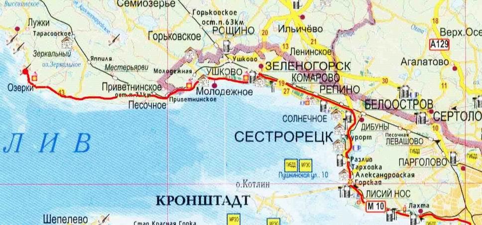 Места погружений в ленинградской